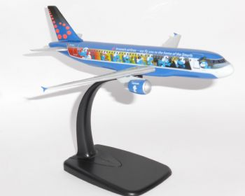 Airbus A320 Brussels Airlines Aerosmurf Socatec Collectors Model Scale 1:200 E